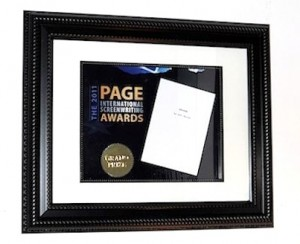 PAGE Award Certificate